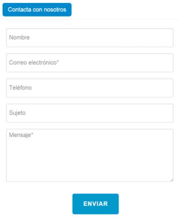 formulario contacto sencillo